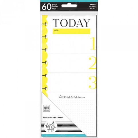 Внутренний блок для ежедневника- Classic Half Sheet Note Paper - Socialite -60шт