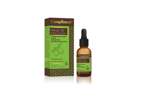 Compliment    Ревитализирующее масло-концентрат  для кончиков волос Marula Oil & Biotin Complex