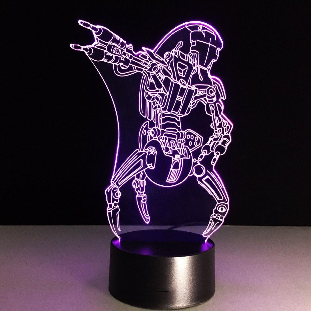 3D светильник Звездные войны Дроид-разрушитель — 3D light Droid