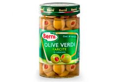 Оливки зеленые фаршированные перцем Berni, 310г