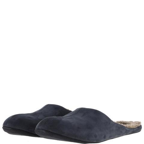 777137 туфли домашние мужские синие шерсть. КупиРазмер — обувь больших размеров марки Делфино