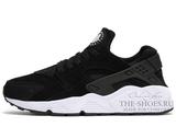 Кроссовки Женские Nike Air Huarache Black White Suede
