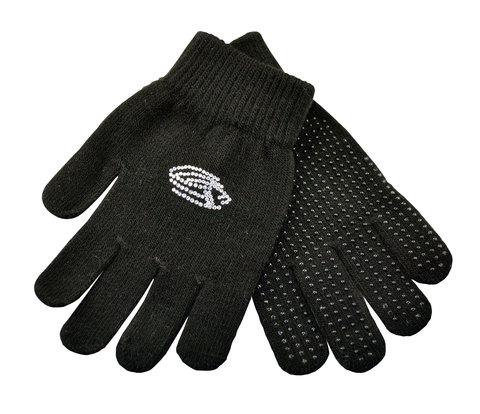 Перчатки со стразами Edea (черные)