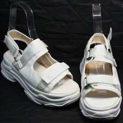 Сандали +на липучках женские спортивные Small Swan PM23-3 White.