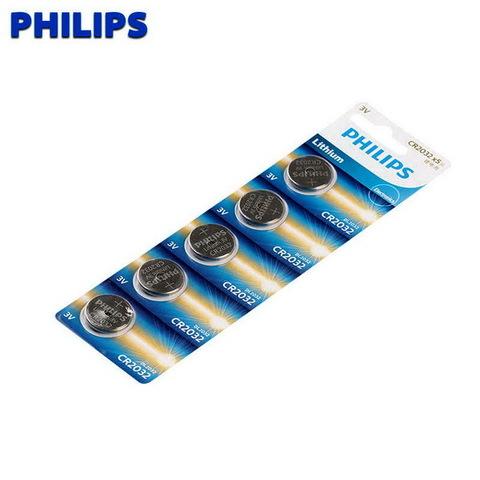 Батарейки литиевые Philips CR 2032/5bl