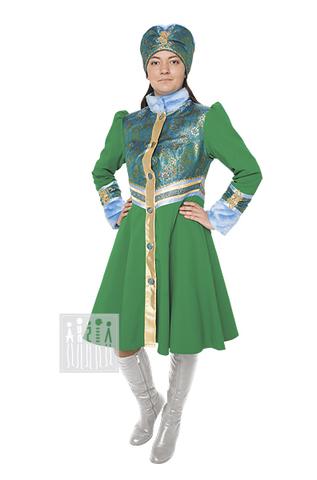 Фото Затея женский костюм рисунок Зимний стилизованный народный костюм это набор аксессуаров для народных гуляний. Утепленные головной убор и пелерина создают яркий народный образ.