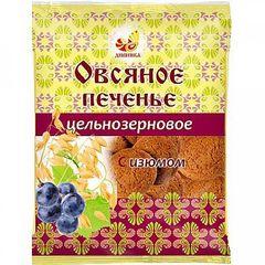 Печенье овсяное цельнозерновое, Дивинка, с изюмом, 300 г.