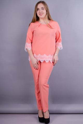 Тэй. Женский костюм больших размеров. Персик.