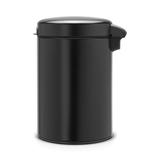 Мусорный бак newIcon настенный (3л), Черный матовый, арт. 116247 - превью 4