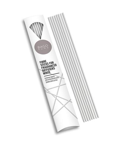 Палочки для ароматического диффузора фибра 20 см белые, Bago home
