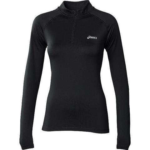 Рубашка беговая Asics Ess Winter 1/2 Zip женская black