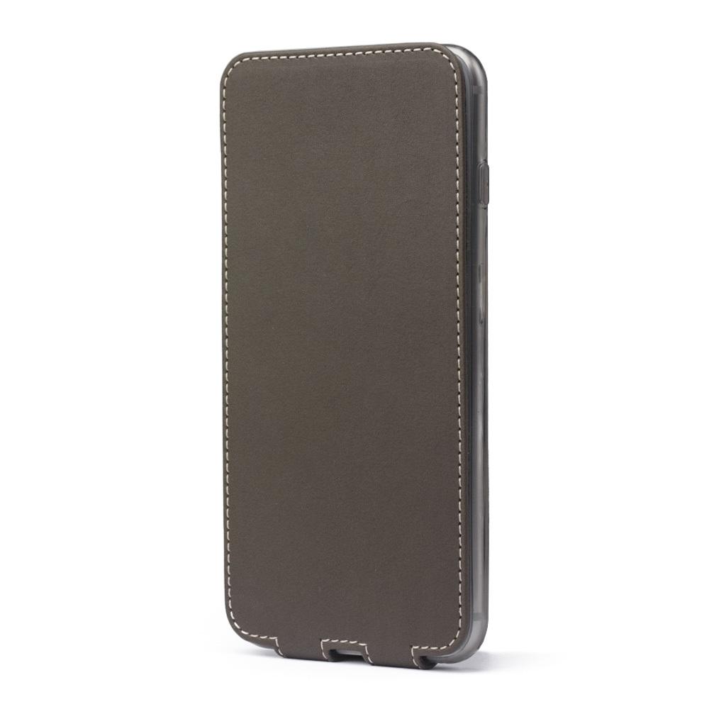 Чехол для iPhone 8 Plus из натуральной кожи теленка, цвета хаки