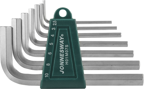 H01M07S Комплект угловых шестиграников 2,5-10мм, 7 предметов S2 материал