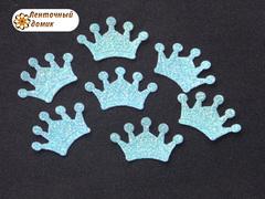 Декор Мягкая корона голубая