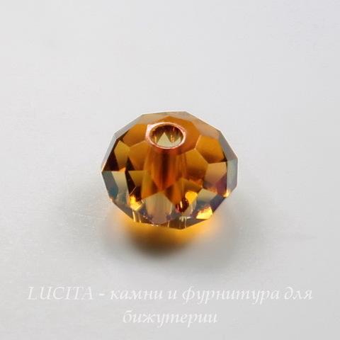 5040 Бусина - рондель с огранкой Сваровски Crystal Copper  6 мм