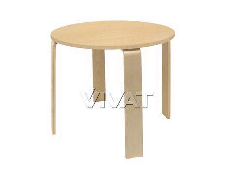 Стол обеденный круглый Scandi Медовое дерево