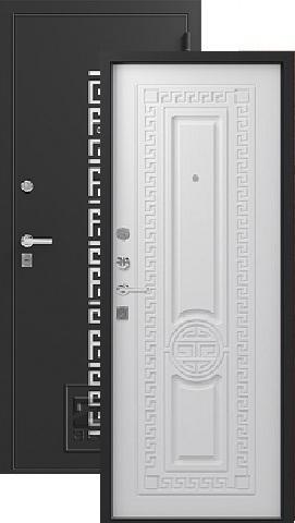 Дверь входная Зевс Z-5, 2 замка, 1,5 мм  металл, (чёрный шёлк+софт белый)