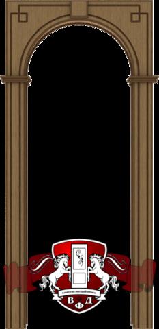 Складской остаток - Арка межкомнатная шпонированная Владимирская фабрика дверей, Классика, цвет орех (Данный товар возврату и обмену не подлежит)