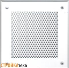 Решетка 210*210 белая, кружок
