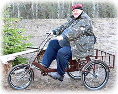 Трехколесные велосипеды для людей с весом более 100 кг, инвалидов, больных ДЦП