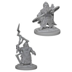 Pathfinder Deep Cuts Unpainted Miniatures - Dwarf Male Sorcerer
