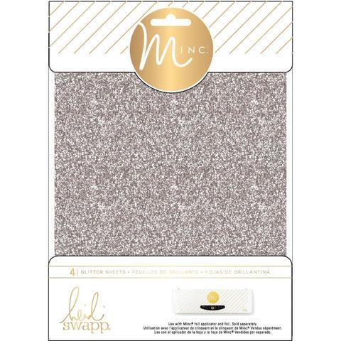 Фольга с глиттером для фольгирования Heidi Swapp Minc Glitter Sheets- Silver