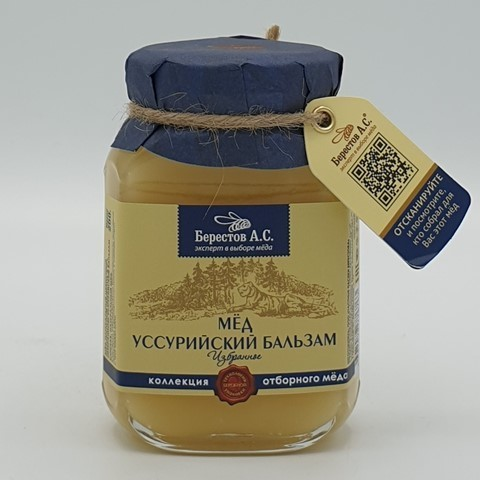 Мёд натуральный Алтайцвет Уссурийский Бальзам БЕРЕСТОВ А.С., 200 гр