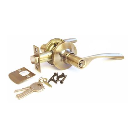 Ручка-защелка, Arsenal 860, с ключом, AB, Бронза