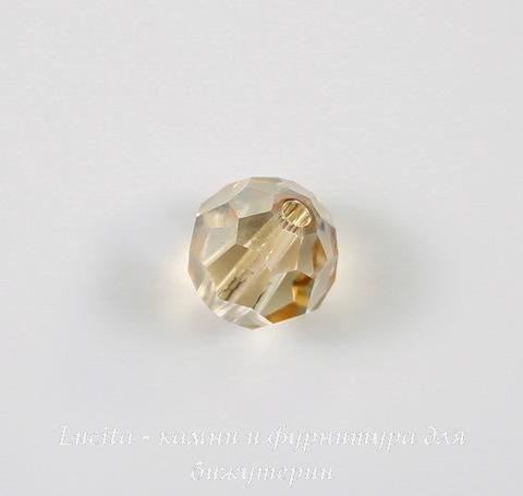 5000 Бусина - шарик с огранкой Сваровски Crystal Golden Shadow 8 мм