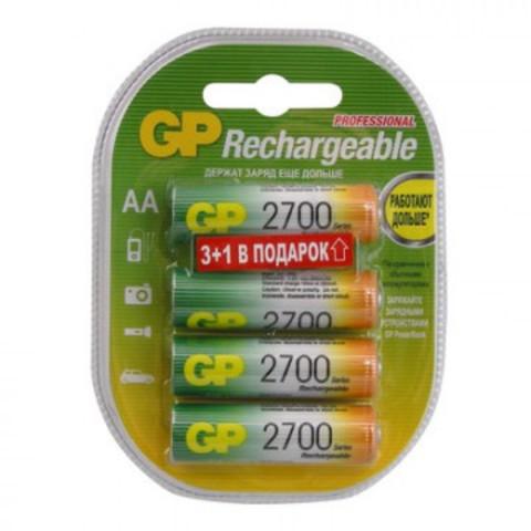 Аккумулятор  GP 2700 мАч, AA, 4шт/уп