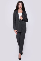"""Офисный пиджак свободного кроя из костюмной ткани. Застежка на пуговицу. Функциональные карманы.Без подклада. Отлично сочетается с брюками """"Монако"""".  (Длина: 44-74см; 46-75см; 48-76см; 50-77см; )"""