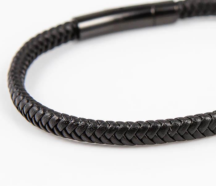BM529-1 Тонкий мужской браслет из плетеного шнура фото 04