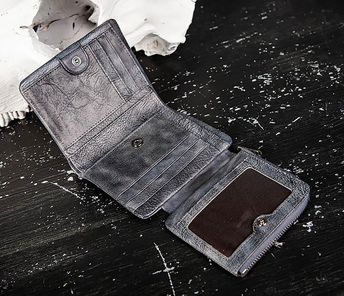 WL329-3 Мужское портмоне из натуральной кожи с монетницей фото 04