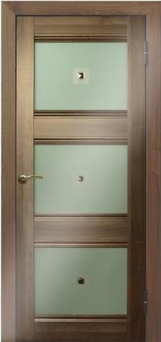 > Экошпон Profil Doors №4Х-Классика, стекло узор, цвет орех сиена, остекленная
