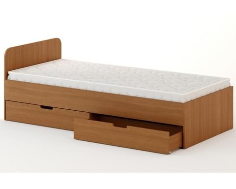 Кровать ЛОМБАРДИЯ-07 бук темный