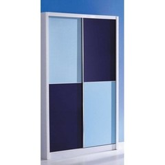 Шкаф купе 2-х дверный Бамбино (Bambino MK-4602-BL) Синий-белый