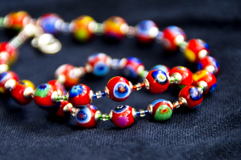 Ожерелье Murrina красное
