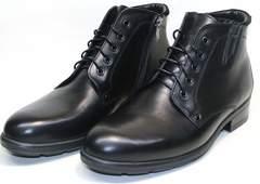 Зимние ботинки на шнурках мужские Ikoc 2678-1 S