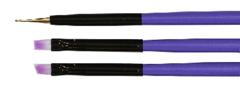 TNL, Набор кистей 3 шт. (фиолетовый)