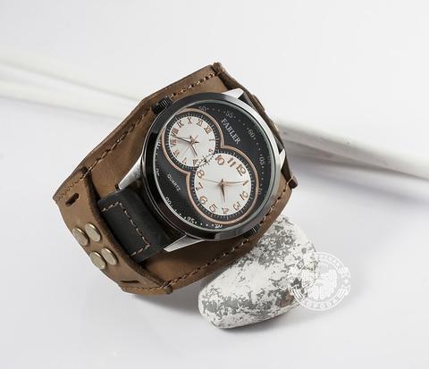 WLS130 Кожаный браслет для часов из двух частей