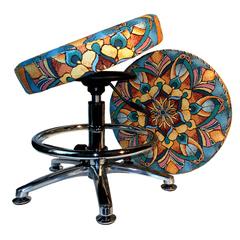 Дизайнерский компьютерный стул для школьника с подставкой для ног