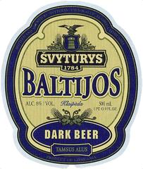 Пиво Svyturys Baltijos