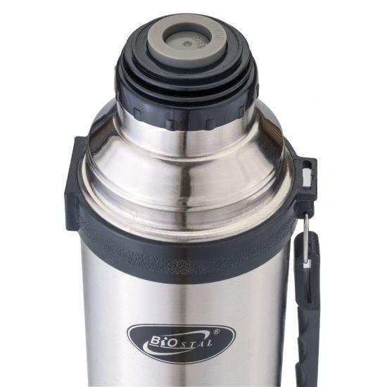 Термос Biostal (1,2 литра) с ручкой, стальной*