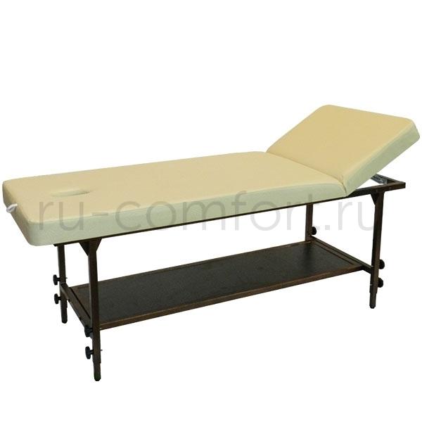 Стационарные массажные столы, кушетки косметолога Массажный стол Классик 190х70Р с полкой Классик-с-полкой-и-регулировкой.jpg