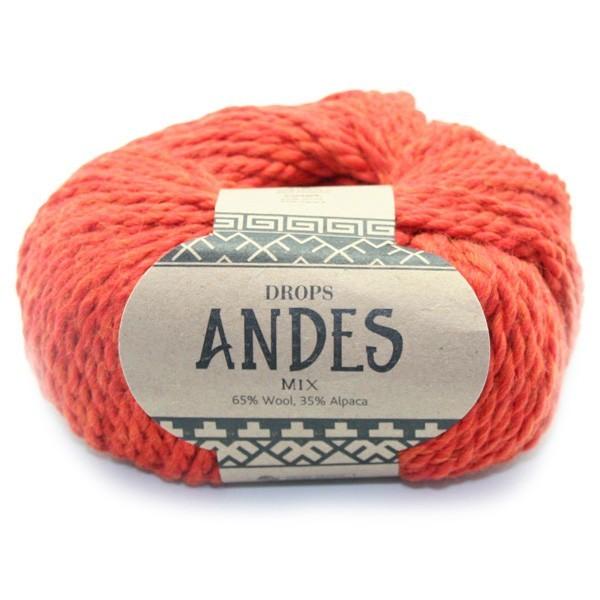 Пряжа Drops Andes 2920 оранжевый
