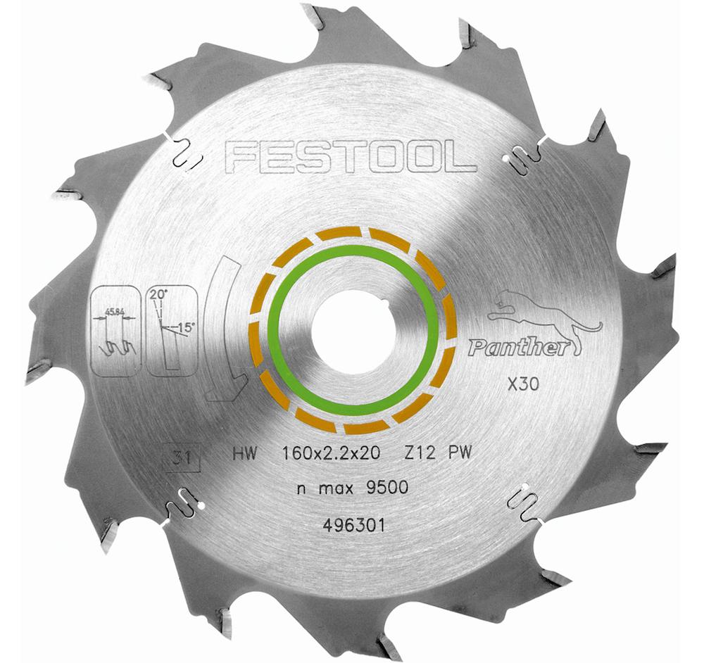 Диск пильный Panther 160x2,2x20 PW12 Festool 496301