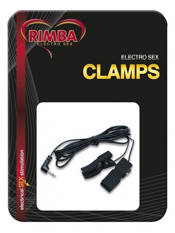 Электро-зажимы на соски - Rimba Electro Clamps Uni-Polar (2 Pcs)