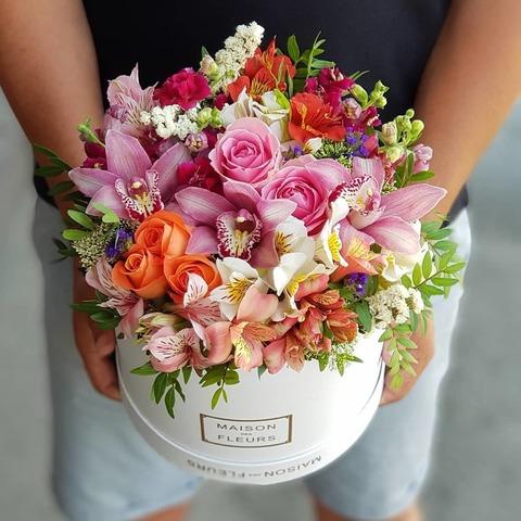 Коробка Maison Des Fleurs микс цветы 3