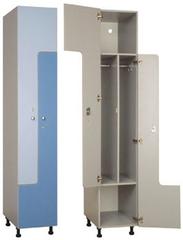 Шкаф с Z-образными дверцами 2-х дверный