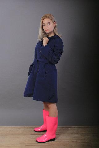 Плащ жіночий демісезонний, колір синій, розмір S/M